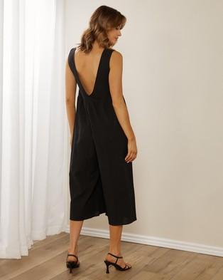 Atmos&Here Anita Cotton Jumpsuit - Jumpsuits & Playsuits (Black)
