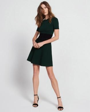 Sandro – Brandy Dress Foam Green