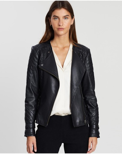 West 14th Park Slope Quilted Jacket Black Leather