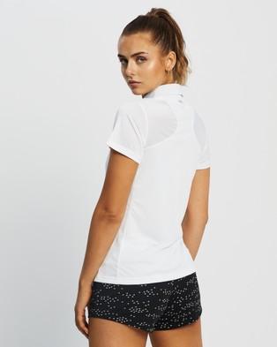 adidas Performance Tennis Club 3 Stripes Polo Shirt - Shirts & Polos (White & Grey)