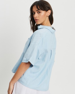 The Fated Something About You Shirt - Tops (Pale Blue)