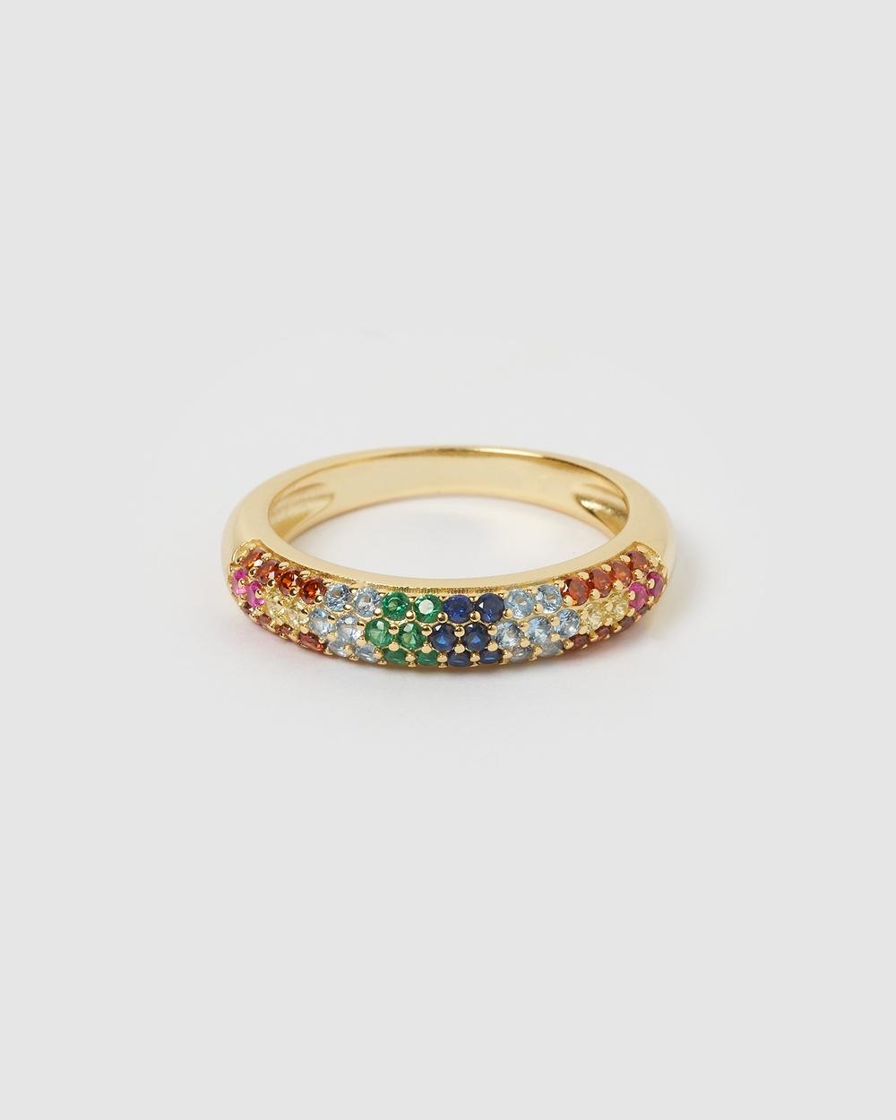 Izoa Riley Ring Multi Gold Jewellery Gold