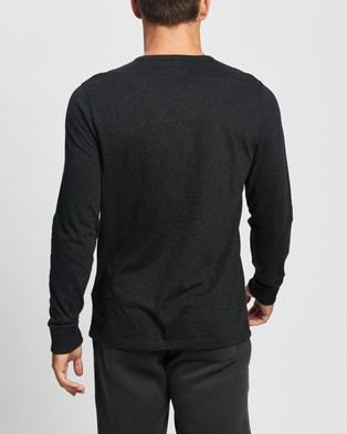 Abercrombie & Fitch LS Icon Henley T Shirt - T-Shirts & Singlets (Black)