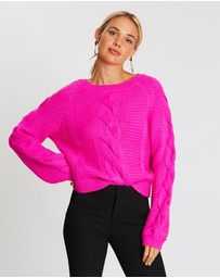 Honey and Beau - Neon Night Jumper