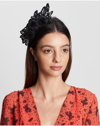 Max Alexander - Australian-Made Lace Crown Fascinator
