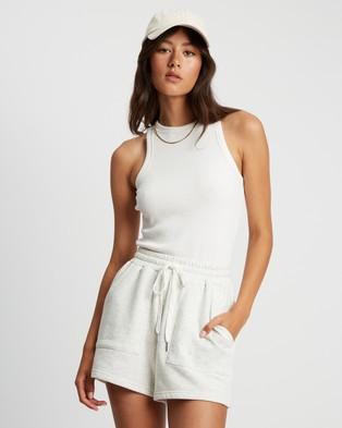 ST MRLO Maui Shorts - High-Waisted (Grey Marle)