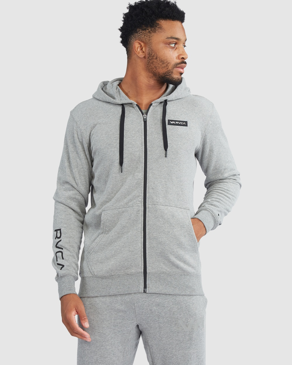 RVCA Sport Swift Hoodie Patch Jumpers & Cardigans HEATHER GREY