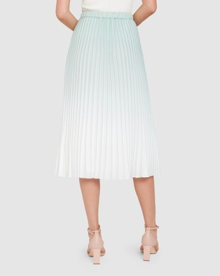 Forever New Odessa Ombre Pleated Skirt - Skirts (Mint)
