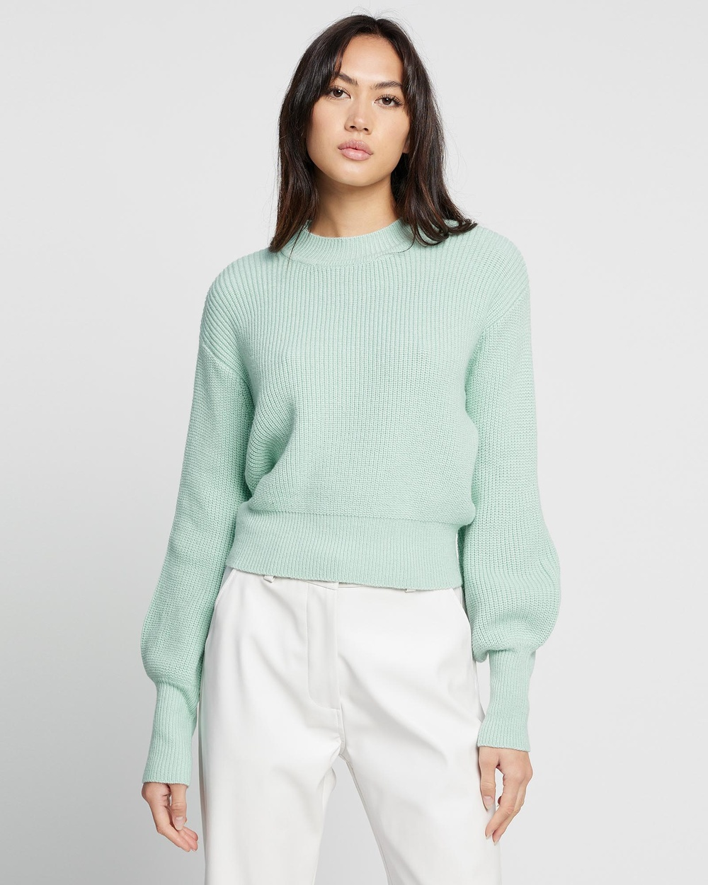 All About Eve Olivia Knit Sweater Jumpers & Cardigans Green