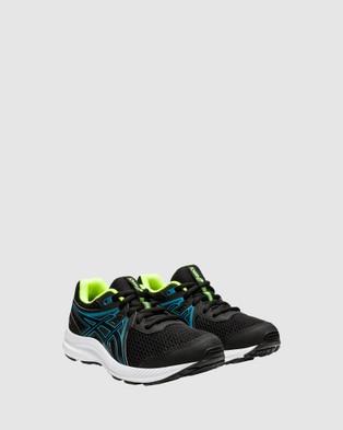 ASICS Contend 7 Grade School - Lifestyle Shoes (Black/Digital Aqua)