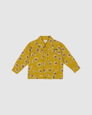 Goldie + Ace - THE ICONIC EXCLUSIVE   Ace Vintage Wash Daisies Denim Jacket   Babies Kids - Denim jacket (Yellow) THE ICONIC EXCLUSIVE - Ace Vintage Wash Daisies Denim Jacket - Babies-Kids
