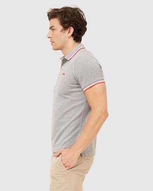 Superdry Classic Poolside Pique Polo - T-Shirts & Singlets (Mid Grey Marle)