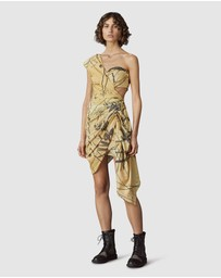 LEO & LIN - War Horse Draped Mini Dress