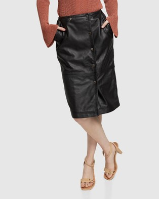 Oxford Jemma Leather Skirt - Leather skirts (Black)