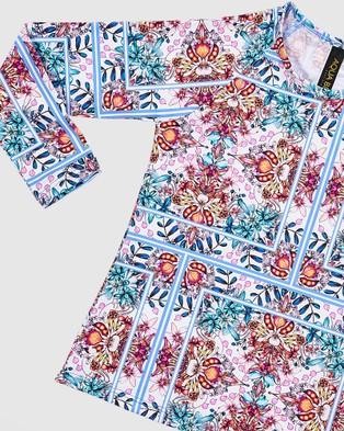 Aqua Blu Kids Hideaway Long Sleeve Rash Vest   Kids - Swimwear (Hideaway)