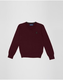 Polo Ralph Lauren - Cotton V-Neck Sweater - Teens
