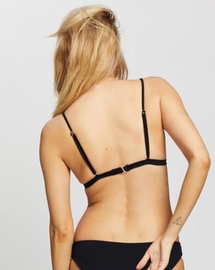 Rusty Stella Series Fixed Tri Bikini Top - Bikini Tops (Black)