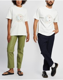 Andersson Bell - Smile Earth Embroidery T-Shirt - Unisex