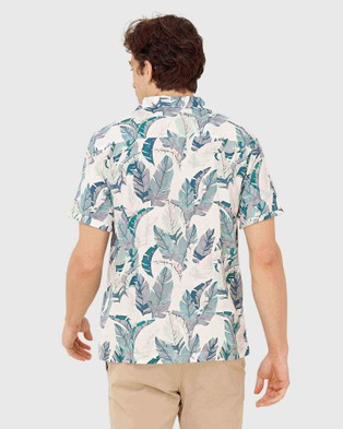 Superdry Hawaiian Box Shirt - Shirts & Polos (Feather Leaf White)