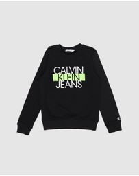 Calvin Klein Jeans - Institutional Block Sweatshirt - Kids-Teens