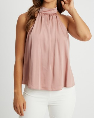 CHANCERY Joey Halter Top - Tops (Light Dusty Rose)