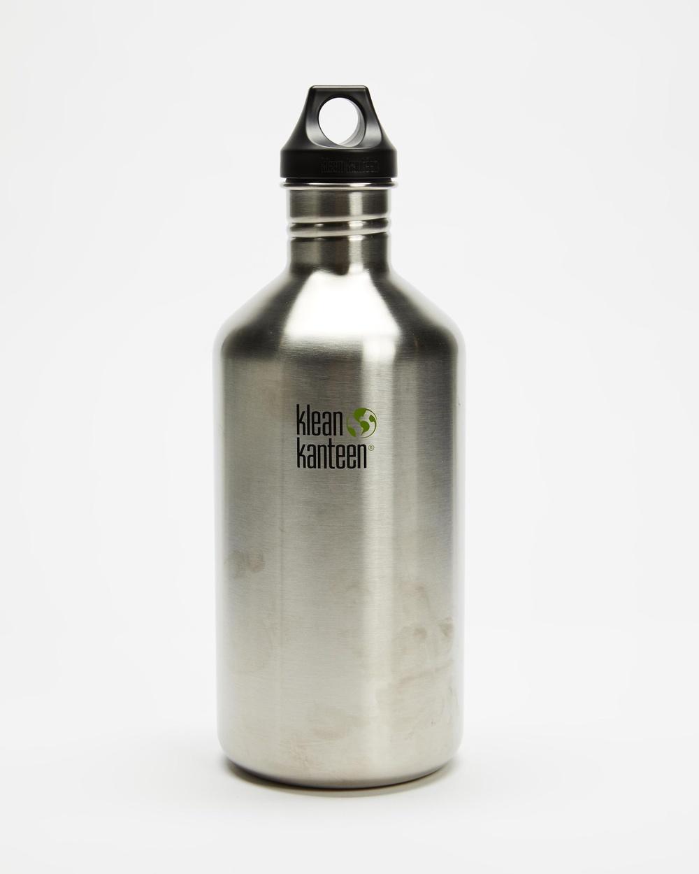 Klean Kanteen 64oz Classic Loop Cap Bottle Running Brushed Stainless