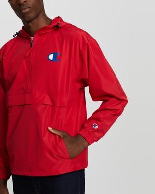 Champion Packable Stadium Jacket - Coats & Jackets (Scarlet)