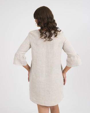 Kate Douglas Designs The Ashley Linen Dress - Dresses (Neutral)