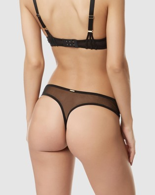 Bluebella Laura Thong - Underwear & Sleepwear (Black)