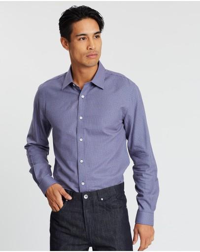 Gieves And Hawkes Royal Long-sleeve Shirt Blue