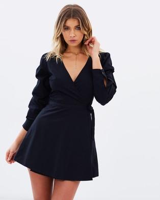 Atmos & Here – Suzie Cotton Wrap Dress Black