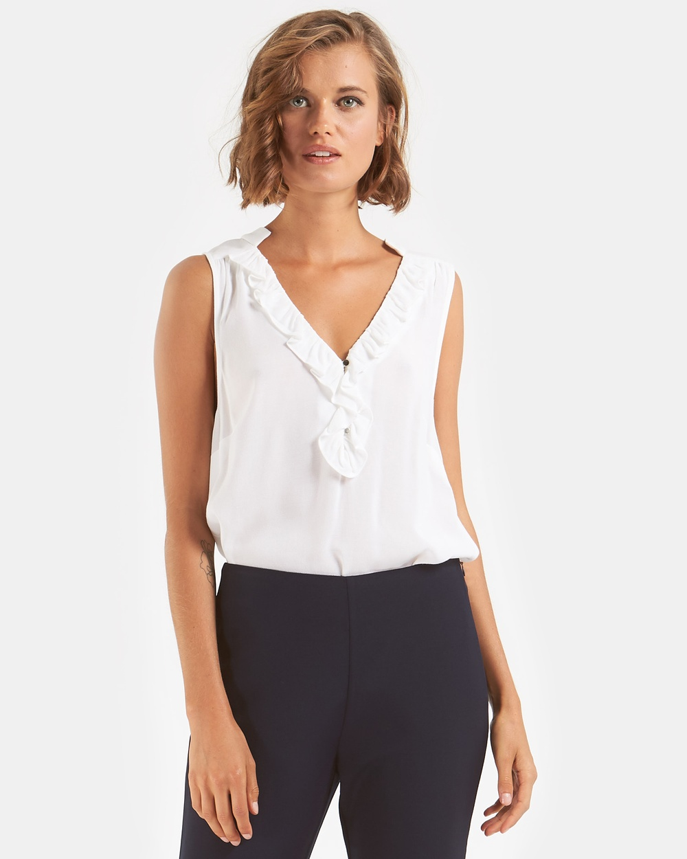 Amelius Elsa Sleeveless Top Tops Ivory Elsa Sleeveless Top
