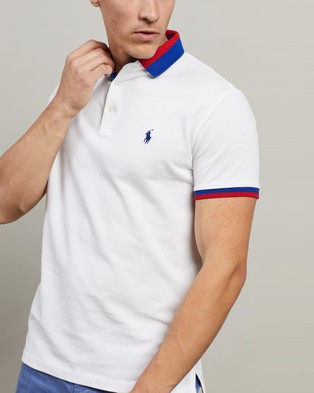 Polo Ralph Lauren ICONIC EXCLUSIVE   Short Sleeve Knit Polo - Shirts & Polos (White)