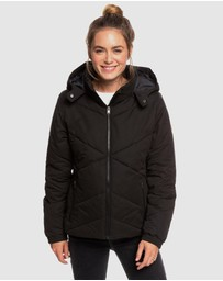 Roxy - Womens No Goodbyes Hooded Puffer Jacket