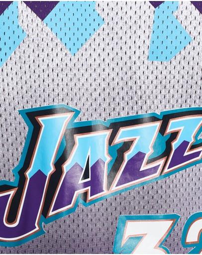 Mitchell & Ness Name Number Mesh Crew Jazz Purple