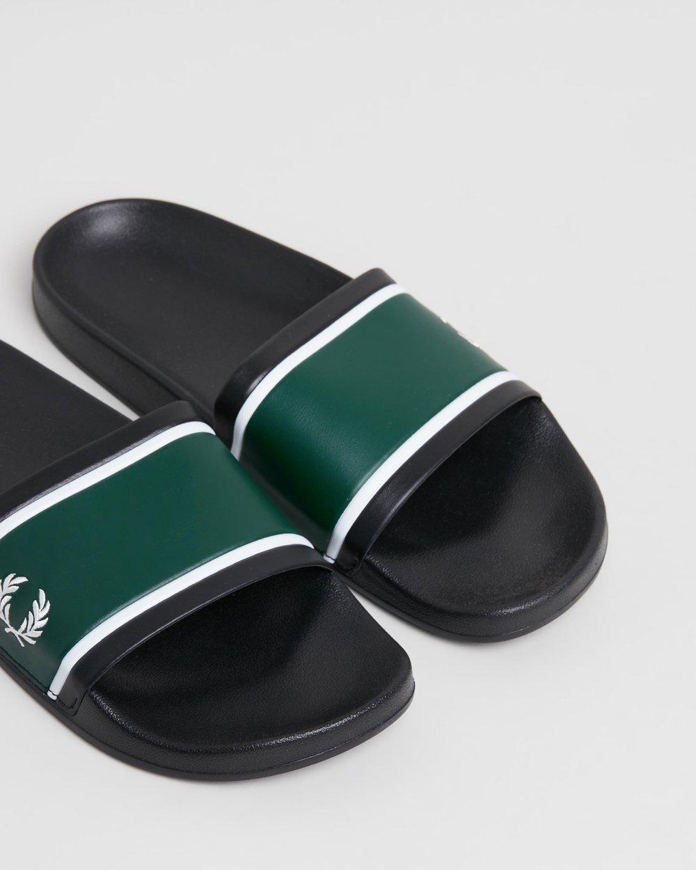 2cb2f8c0256a Debossed Branding Sliders - Men s by Fred Perry Online