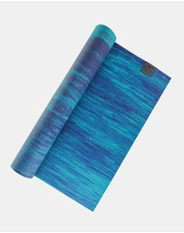 PTP - Blue-Teal Pure Mat + Bonus Yoga Stretching Strap