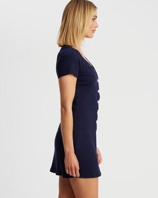Calli - Norah Mini Dress - Bodycon Dresses (Navy Blue) Norah Mini Dress