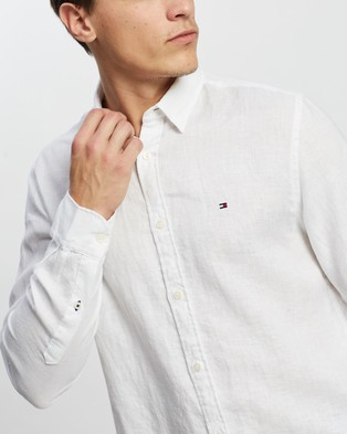 Tommy Hilfiger Solid Linen Shirt - Casual shirts (White)