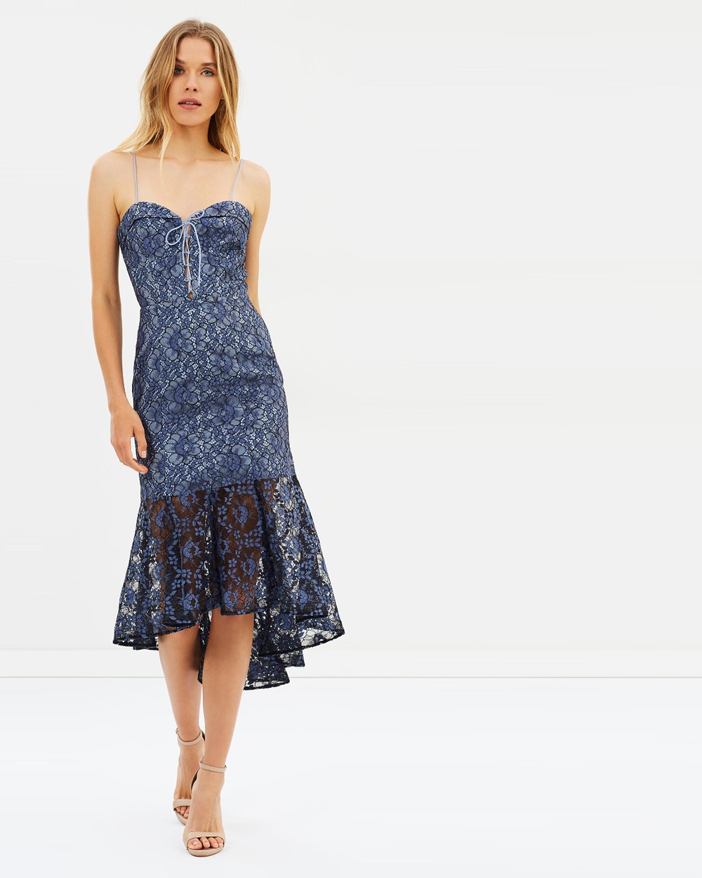 Nicholas Whisper Lace Midi Dress Dresses Black & Blue Whisper Lace Midi Dress