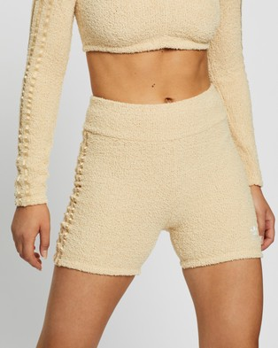 adidas Originals Knit Shorts - High-Waisted (Hazy Beige)