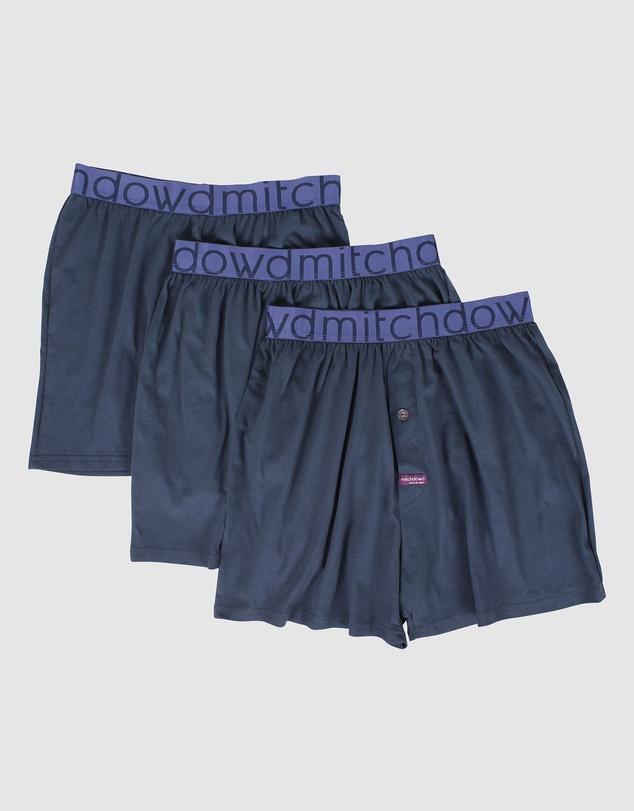 Men Loose Fit Knit Boxer 3 Pack