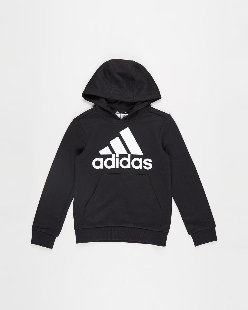 adidas Performance Essentials Hoodie Kids Teens Sweats Black & White Kids-Teens