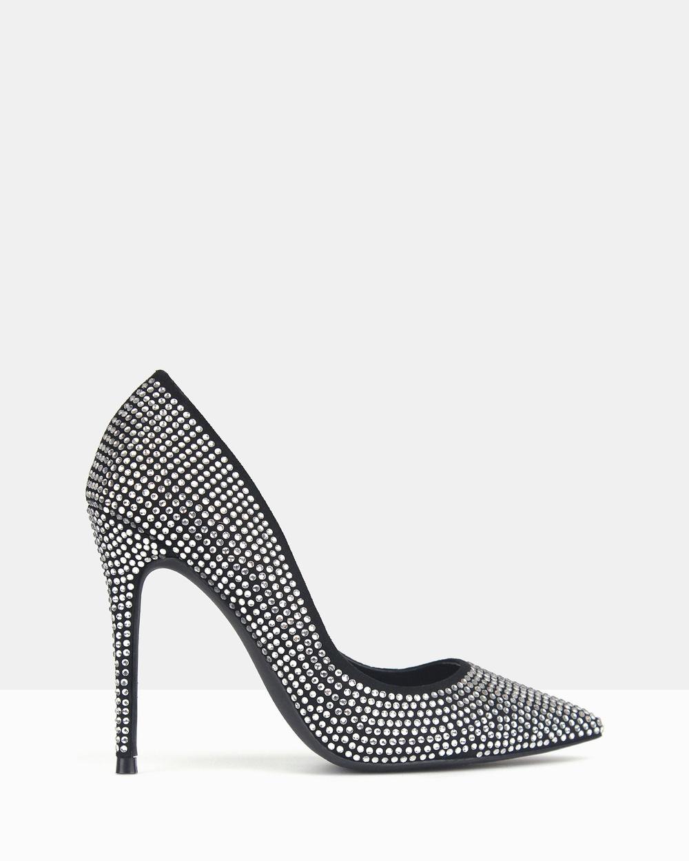 Betts Blossom 2 Diamante Stiletto Heels Heels Black Diamante Blossom 2 Diamante Stiletto Heels