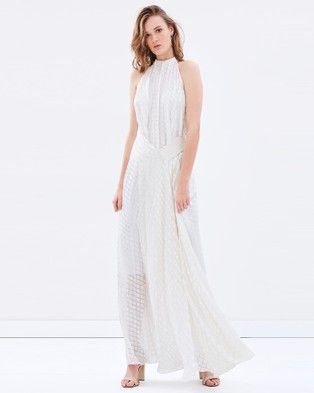 Bianca Spender – Ecru Diamond Devore Isabella Gown
