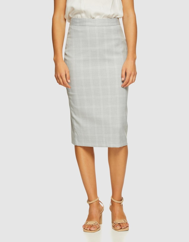 Oxford - Peggy Check Suit Skirt