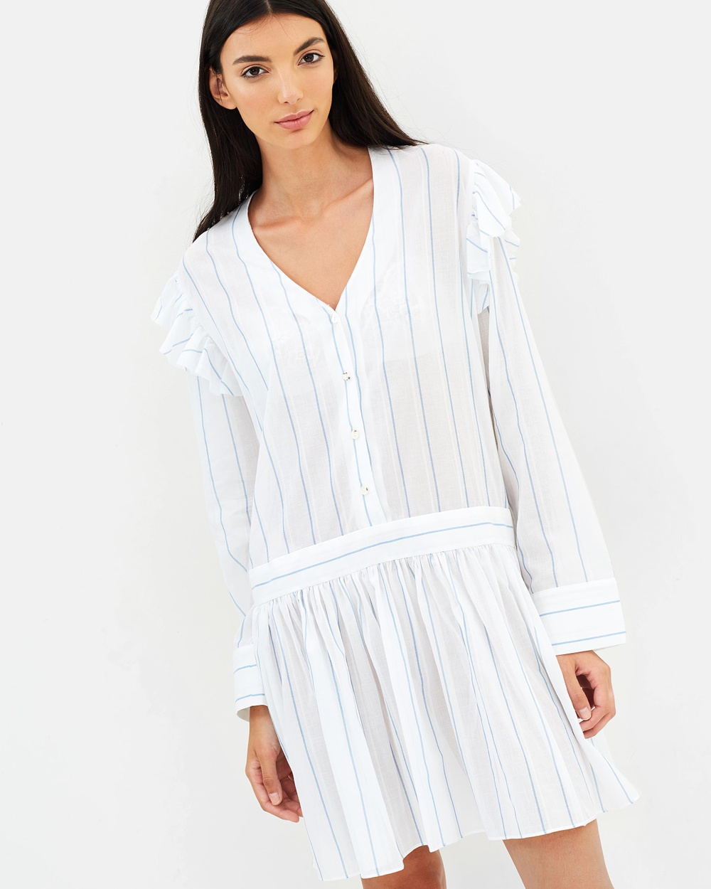 Matin Tavira Ruffle Dress Dresses White Tavira Ruffle Dress