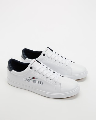 Tommy Hilfiger Corporate Sneakers   Men's - Sneakers (White)