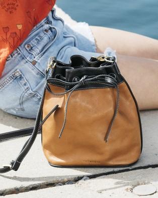 The Horse - Bucket Bag - Handbags (Tan / Black) Bucket Bag