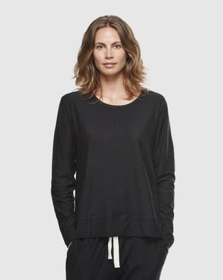 Cloth & Co. Organic Cotton Slub Long Sleeve - T-Shirts & Singlets (Black)